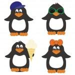 Nice penguins — Stock Vector