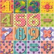 Patchwork background with numbers — Stock Vector