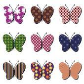 Scrapbook butterflies — Stock Vector