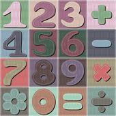 数字とパッチワークの背景 — ストックベクタ