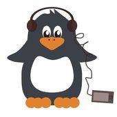 Nice penguin on white background — Stock Vector