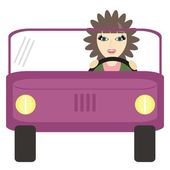 Nice girl driver — Stock Vector