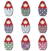 Matryoshka dolls scrapbook — Stock Vector