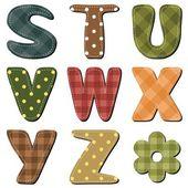 Scrapbook alfabet — Stockvector