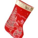 Christmas sock over white — Stock Photo #1397148