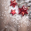 Chrismas red stars — Stock Photo