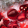 Red christmas decor — Stock Photo