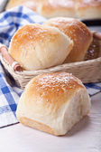Homemade bread rolls — Stock Photo