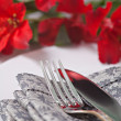 Stock Photo: Closeup fork and knife