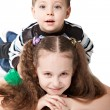 Brother with sister — Stock Photo #21855287