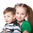 Brother with sister — Stock Photo #21855355