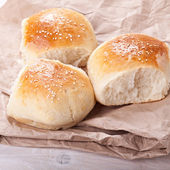 Home made bread rolls — Stock Photo