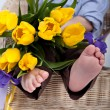 Foot nurseries — Foto Stock