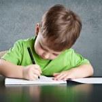 Little boy draw — Stock Photo #24217715