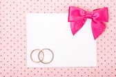 Wedding Invitation card — Foto de Stock