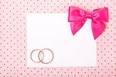 Karta zaproszenie ślubne — Zdjęcie stockowe