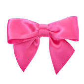 Closeup pink bow — Stock Photo