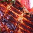 Closeup Grilled pork meat — Stock Photo