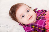 Portrait adorable baby girl — Stock Photo