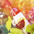 Red wine and grapes composition — Stock Photo #46258735