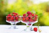 Strawberries outdoor — Stock Photo