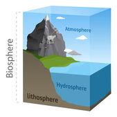 Biosphere illustration in vector — Stock Vector
