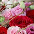 Beautiful bouquet of roses close-up — Stock Photo #12730605