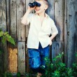 Child boy in summer — Stock Photo