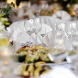 Table set for a festive party or dinner — Stock Photo #13724843