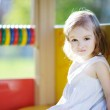 Adorable little girl portrait outdoors — Stock Photo #13724844