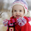 Little winter baby girl — Stock Photo