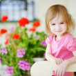 Adorable little girl portrait outdoors — Stock Photo #13725097