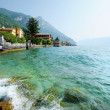 Gargnano town on Garda lake in Italy — Stock Photo