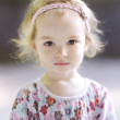 Adorable todder girl portrait — Stock Photo