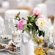 Table set for an event party — Stock fotografie