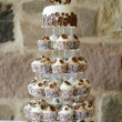 Fancy wedding cake — Stock Photo