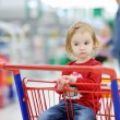 Royalty-Free Stock Photo: Adorable toddler sitting in shopping cart