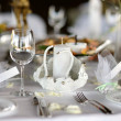 Stock Photo: Empty place card on the festive table