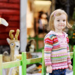 Adorable toddler at shopping mall on Christmas — Stock Photo
