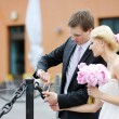 Bride and groom - Stockfoto