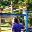 Father and daughter playing in the park — Stock Photo #13726332