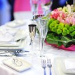 Table set for an event party — Stock Photo