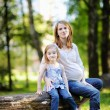 Royalty-Free Stock Photo: Little girl and her pregnant mother