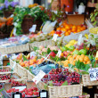 Stock Photo: Assorted fruits on fruit market