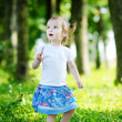 Adorable little girl portrait outdoors — Stock Photo #13727071
