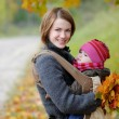 Young mother with her little baby — Stock Photo