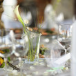 Table set for a festive party or dinner — Stock Photo
