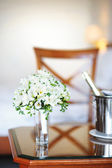 Bridal bouquet of white freesia — Stock Photo