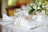 Table set for an event party or wedding — Stock Photo
