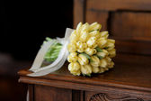 Wedding bunch of yellow tulips — Stok fotoğraf